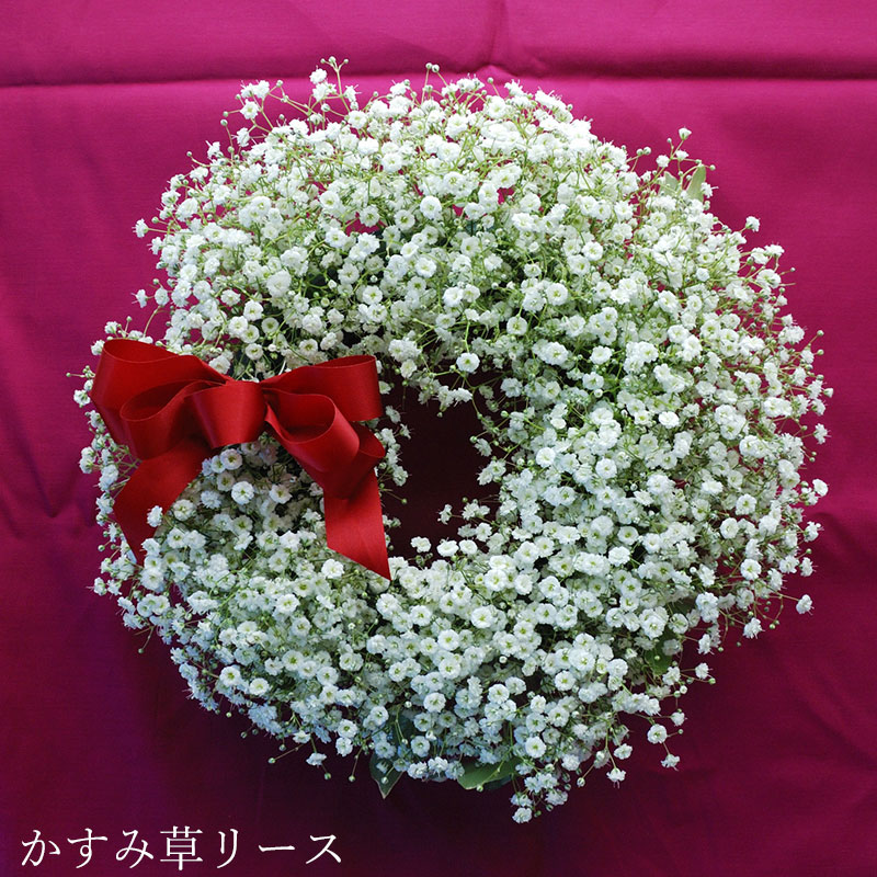 HanaMarika/花まりか かすみ草リース